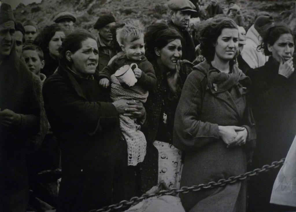 Manuel Moros, Réfugiés espagnols, février 1939.